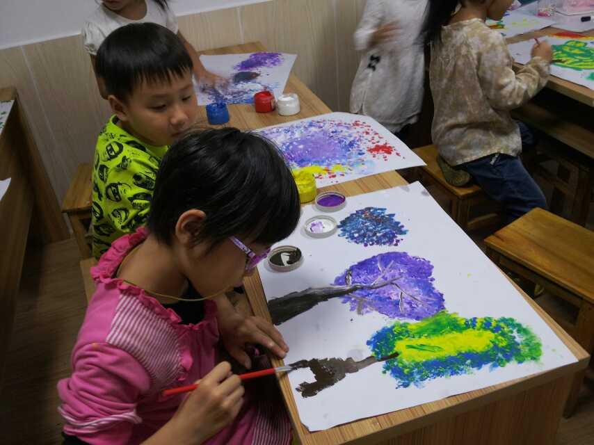 清三小创意美术课国庆后正式开班